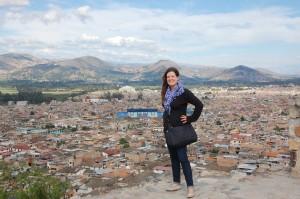 Posing in Cajamarca, Peru