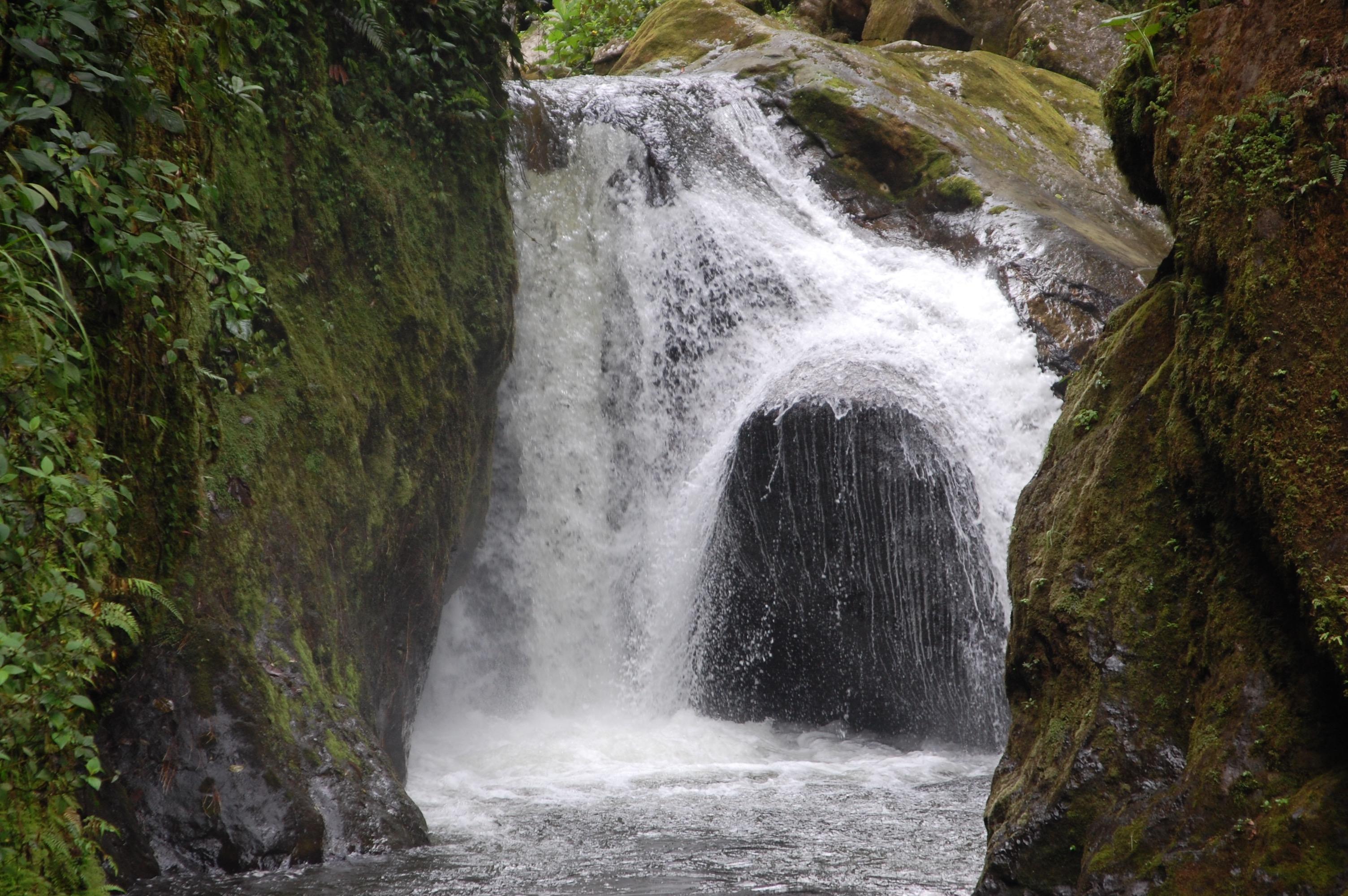 Waterfall in Mindo, Ecuador