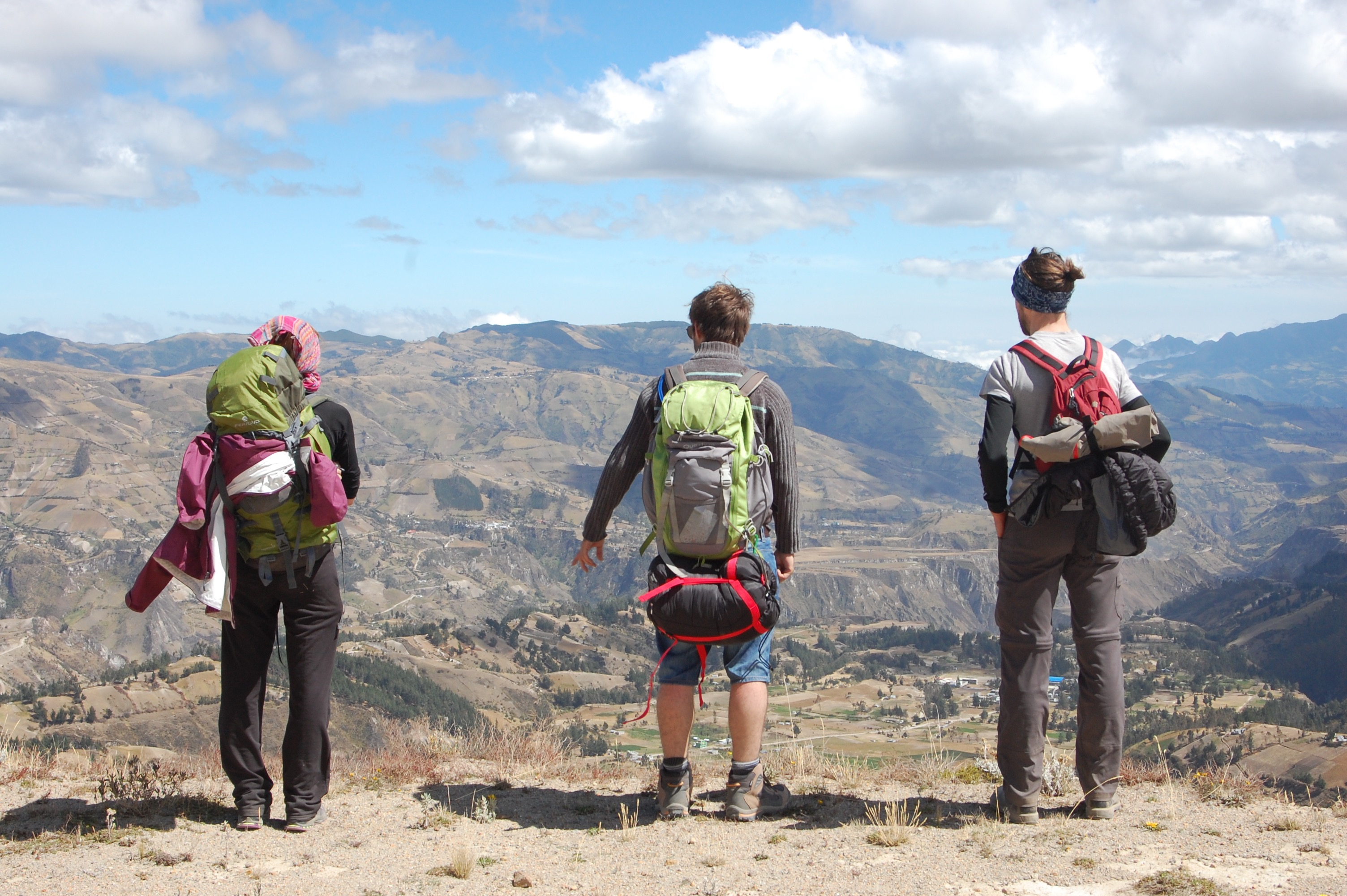 Checking Out the Views on the Quilotoa Loop, Ecuador