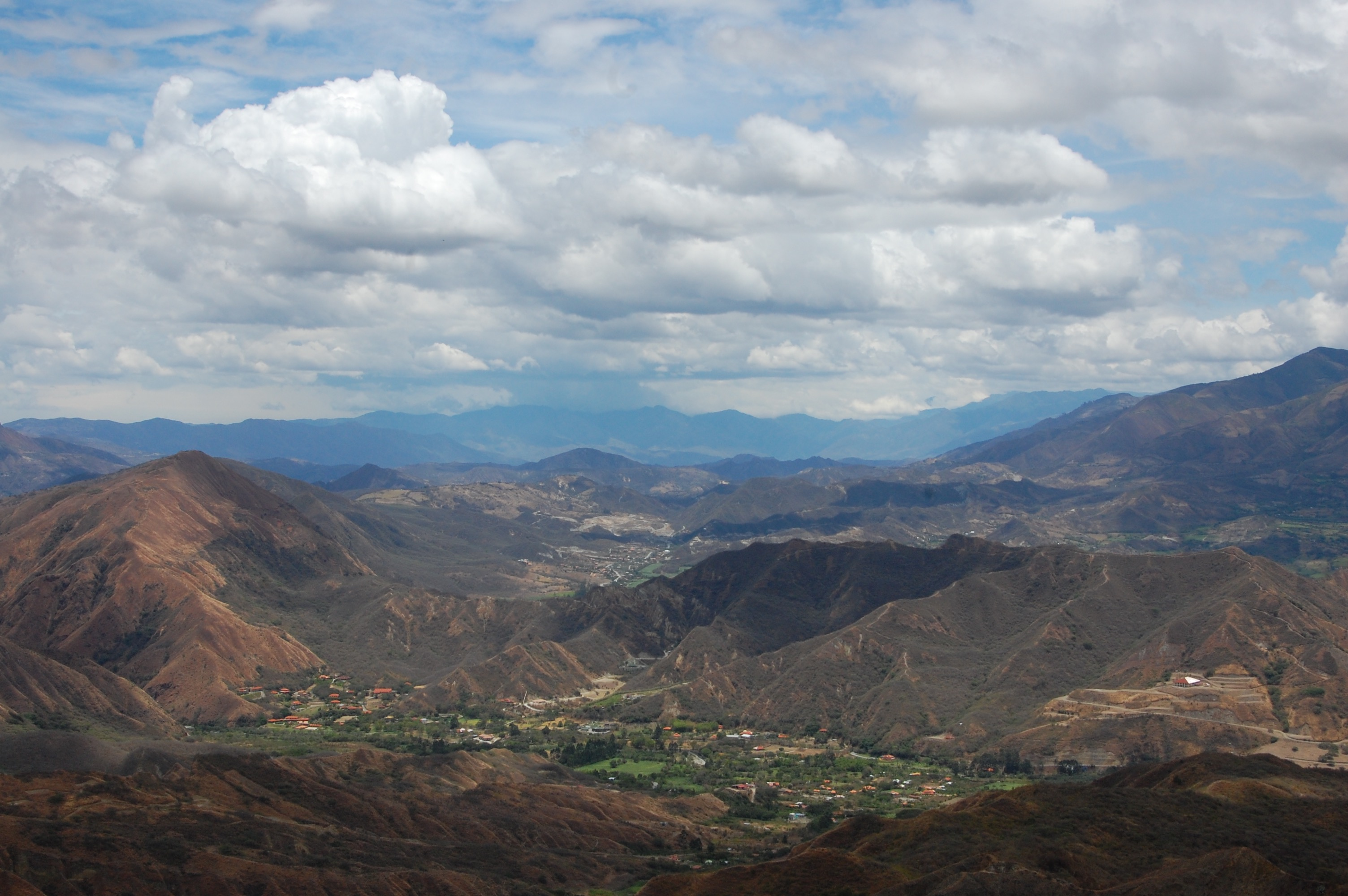 Views over Vilcabamba, Ecuador