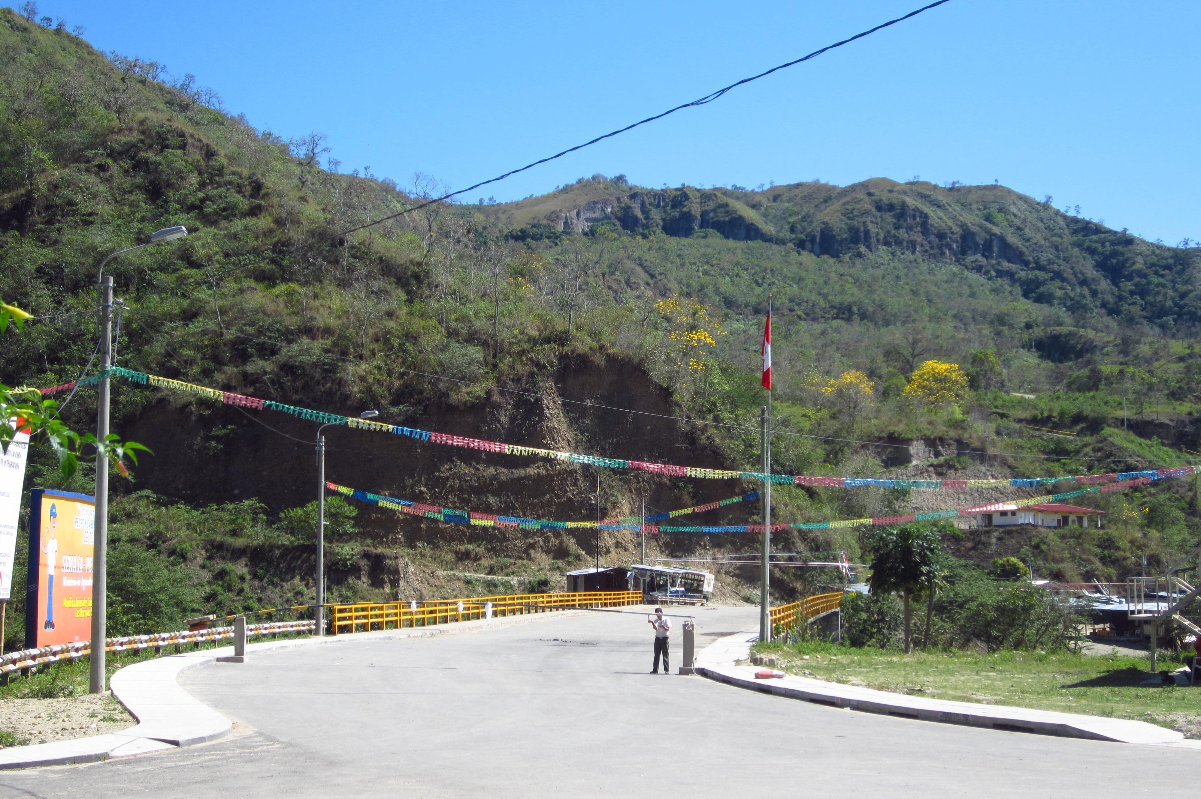 Border Crossing Between Peru and Ecuador at La Balsa
